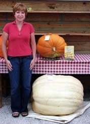 Marlane with her pumpkins